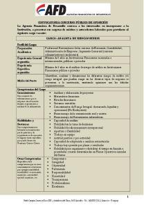 CARGO: ANALISTA DE RIESGOS SENIOR