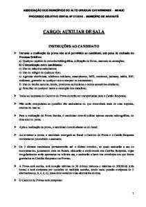 CARGO: AUXILIAR DE SALA
