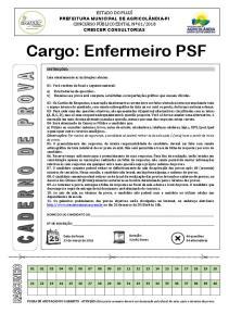 Cargo: Enfermeiro PSF