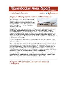 Cargolux offering export services at Rickenbacker