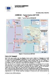 CARIBBEAN Tropical Cyclone MATTHEW. PART 2 GDACS Tropical Cyclone RED ALERT. Figure 1 Tropical Cyclone MATTHEW