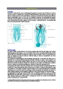CARIES DENTAL. caries dental, y como dientes sanos si son pilar de puente o secundarias a traumatismos