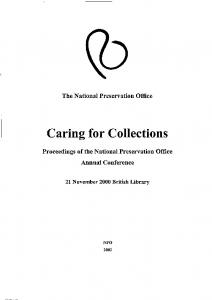 Caring for Collections