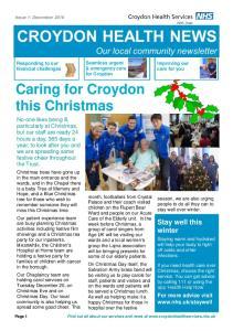 Caring for Croydon this Christmas