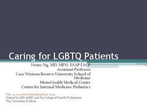 Caring for LGBTQ Patients