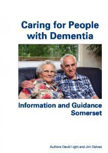 Caring for People with Dementia Information and Guidance Somerset