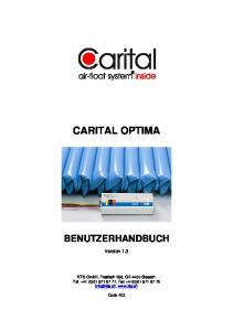 CARITAL OPTIMA BENUTZERHANDBUCH. Version 1.3