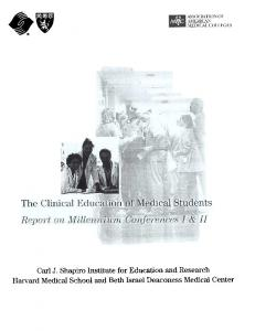 Carl J. Shapiro Institute for Education and Research Harvard Medical School and Beth Israel Deaconess Medical Center