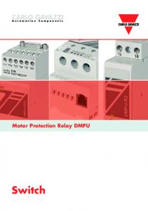 CARLO GAVAZZI. Automation Components. Motor Protection Relay DMPU