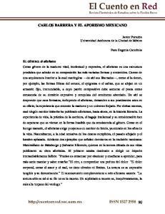CARLOS BARRERA Y EL AFORISMO MEXICANO