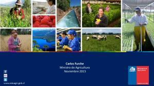 Carlos Furche Ministro de Agricultura Noviembre 2015
