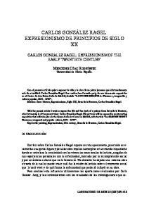 CARLOS GONZÁLEZ RAGEL: EXPRESIONISMO DE PRINCIPIOS DE SIGLO XX
