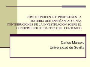 Carlos Marcelo Universidad de Sevilla