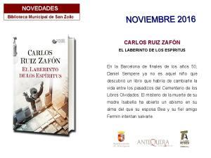 CARLOS RUIZ ZAFÓN EL LABERINTO DE LOS ESPÍRITUS