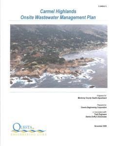 Carmel Highlands Onsite Wastewater Management Plan