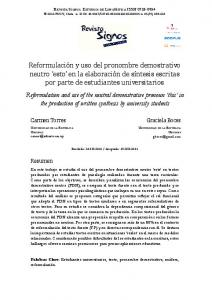 Carmen Torres. Graciela Boces. Resumen