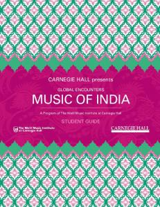 Carnegie Hall presents. A Program of The Weill Music Institute at Carnegie Hall
