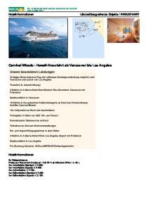 Carnival Miracle - Hawaii-Kreuzfahrt ab Vancouver bis Los Angeles