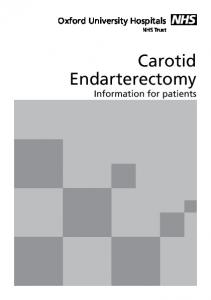 Carotid Endarterectomy Information for patients