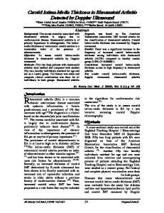 Carotid Intima-Media Thickness in Rheumatoid Arthritis Detected by Doppler Ultrasound
