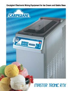Carpigiani Electronic Mixing Equipment for Ice Cream and Gelato Base