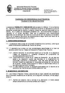 CARRERA DE INGENIERIA ELECTRONICA TRABAJO DE GRADUACION
