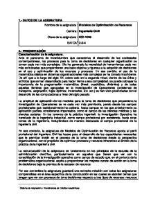 Carrera : Ingeniería Civil SATCA