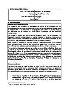Carrera : Ingeniería Mecatrónica SATCA