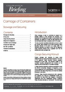 Carriage of Containers