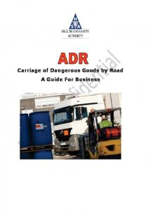 Carriage of Dangerous Goods by Road A Guide For Business