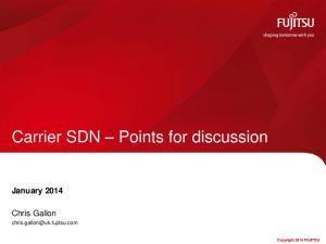 Carrier SDN Points for discussion