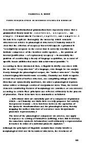 CARROLL E. REED VERB CONJUGATION IN MODERN STANDARD GERMAN