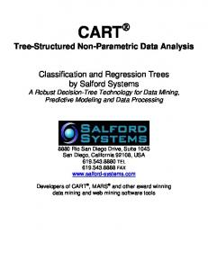 CART. Tree-Structured Non-Parametric Data Analysis