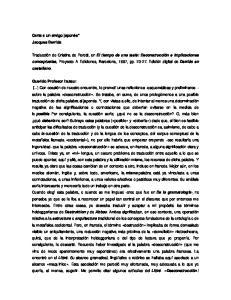 Carta a un amigo japonés* Jacques Derrida