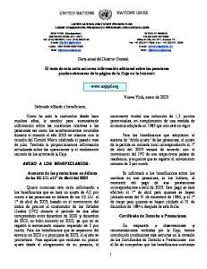Carta anual del Director General
