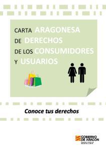 CARTA ARAGONESA DE DERECHOS DE LOS CONSUMIDORES Y USUARIOS