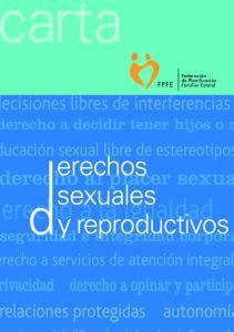 CARTA DE DERECHOS SEXUALES Y DERECHOS REPRODUCTIVOS