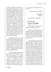 Carta de mayo de 2009
