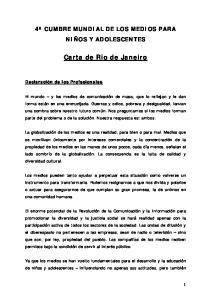 Carta de Rio de Janeiro