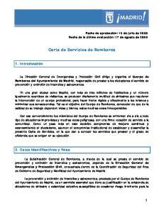 Carta de Servicios de Bomberos
