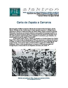 Carta de Zapata a Carranza
