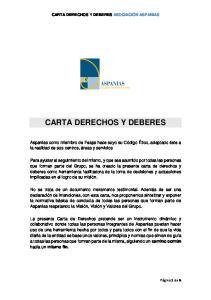 CARTA DERECHOS Y DEBERES