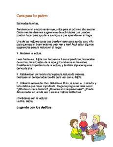 Carta para los padres