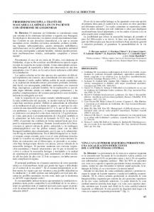 CARTAS AL DIRECTOR FIBROBRONCOSCOPIA A TRAVÉS DE MASCARILLA LARÍNGEA EN UN PACIENTE CON SÍNDROME DE GOLDENHAR