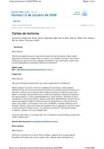 Cartas de lectores LANACION.com