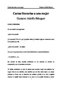 Cartas literarias a una mujer Gustavo Adolfo Bécquer