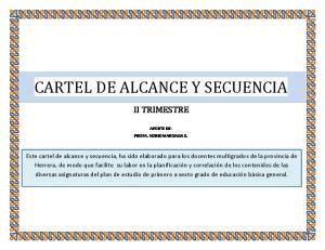 CARTEL DE ALCANCE Y SECUENCIA