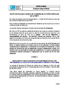 Cartel técnico para compra de unidades de la Flotilla Vehicular de la ESPH