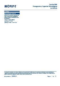 Cartilla 2500 Emergencias y Urgencias Odontológicas LA RIOJA