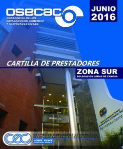 CARTILLA DE PRESTADORES ZONA SUR